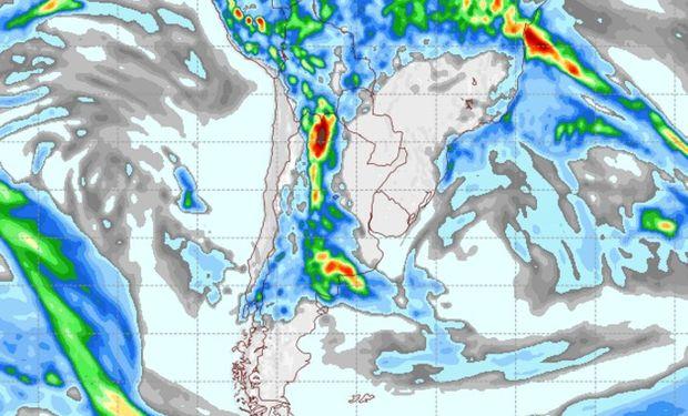 Pronóstico de lluvias para el 2 de abril.