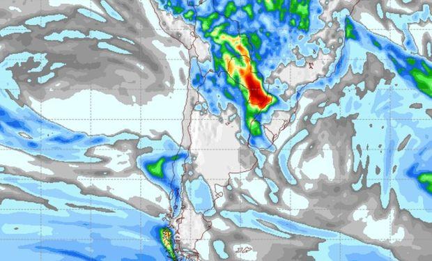Pronóstico de lluvias para el jueves 20 de abril.