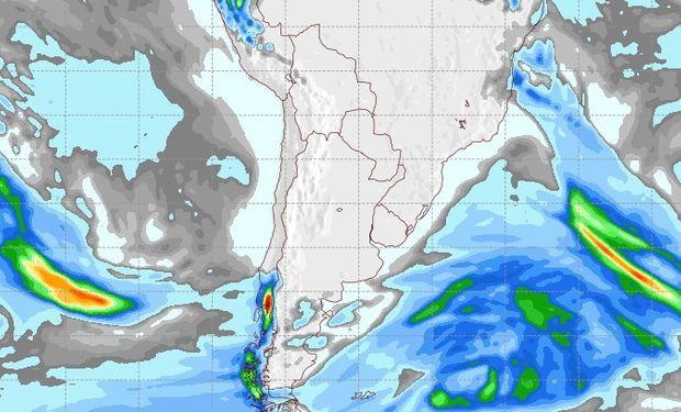 Pronóstico de precipitaciones para el domingo 10 de junio.