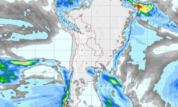 Pronóstico de lluvias para el 7 de julio.