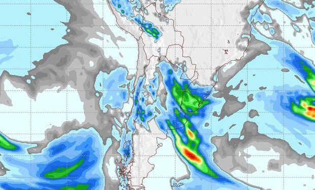 Pronóstico de lluvias para el 12 de agosto.