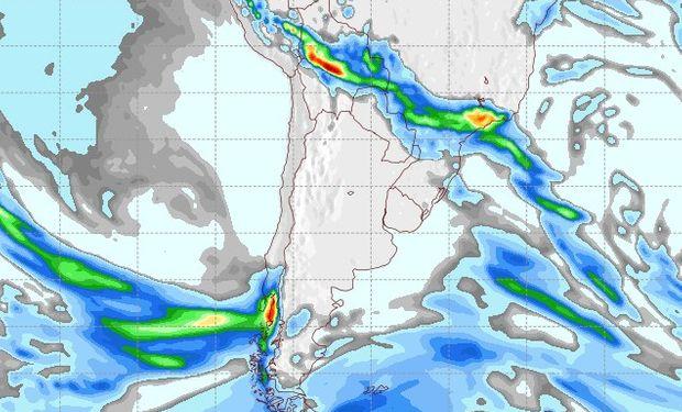Pronóstico de precipitaciones para el 17 de agosto.