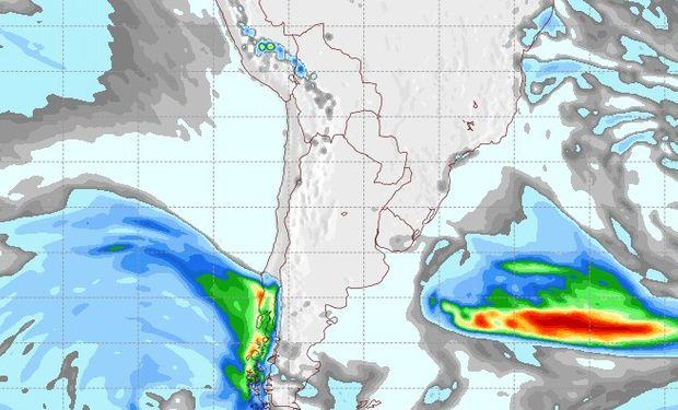 Pronóstico de lluvias para el jueves 31 de agosto.