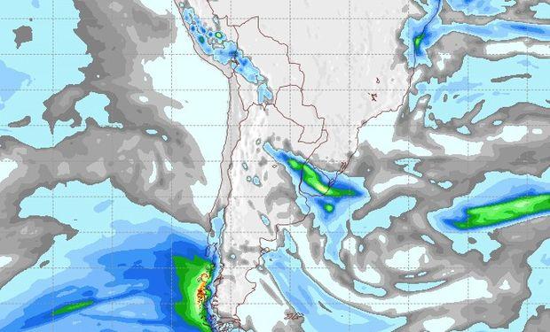 Pronóstico de lluvias para el jueves 7 de septiembre.