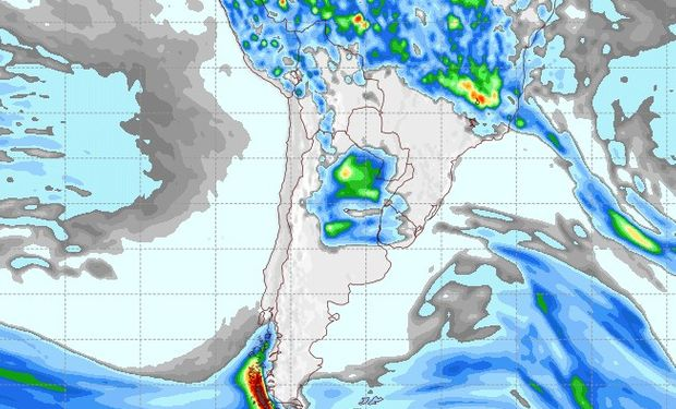 Pronóstico de lluvias para el 25 de noviembre.