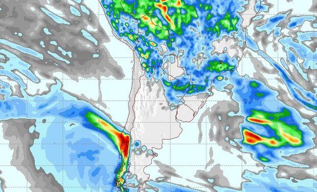 Pronóstico de precipitaciones para el 17 de marzo.