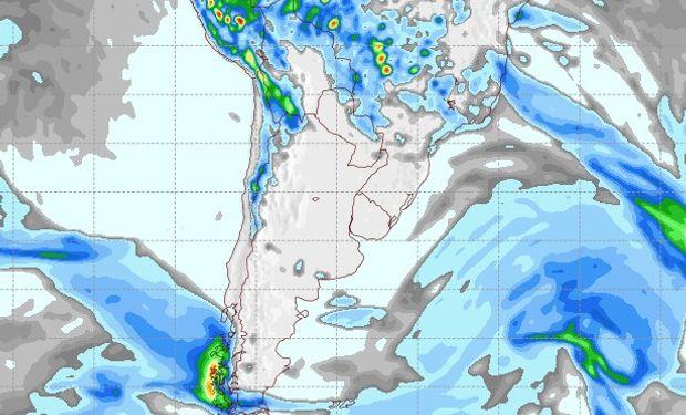 Pronóstico de lluvias para el 6 de octubre.