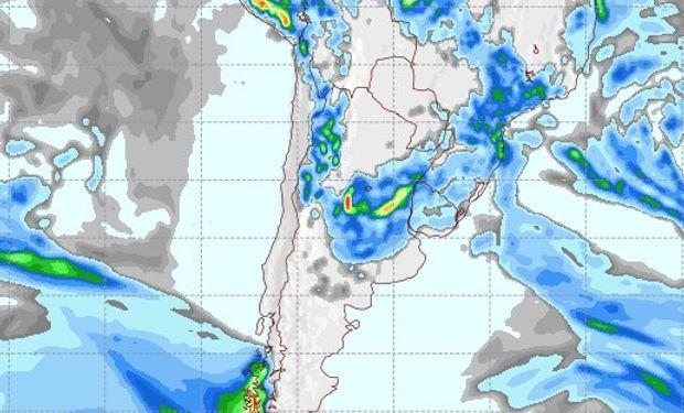 Pronóstico de precipitaciones para el 24 de enero.