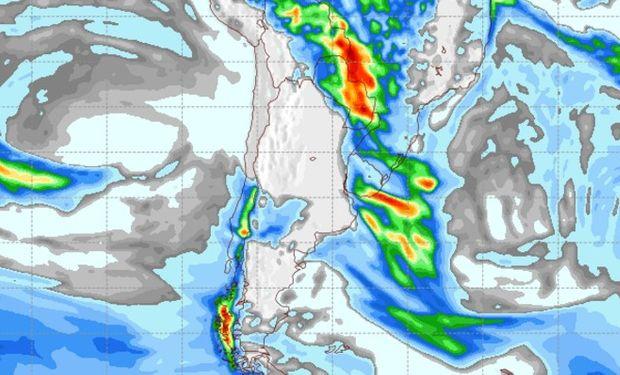 Pronóstico de lluvias para el viernes 21 de abril.