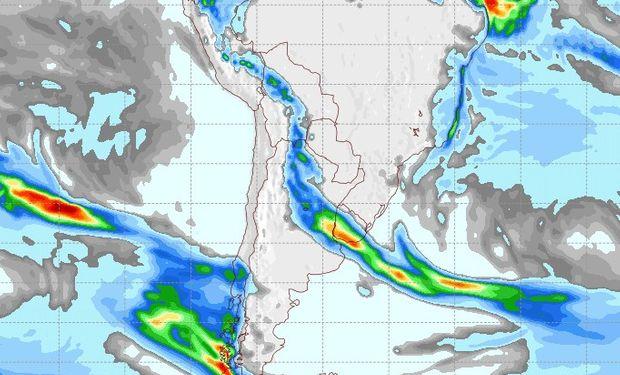 Pronóstico de lluvias para el 9 de julio.