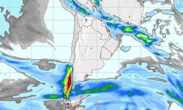 Pronóstico de precipitaciones para el 18 de agosto.