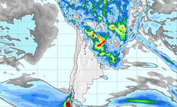 Pronóstico de lluvias para el 26 de noviembre.