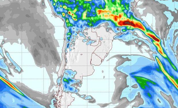 Pronóstico de precipitaciones para el 3 de febrero de 2017.