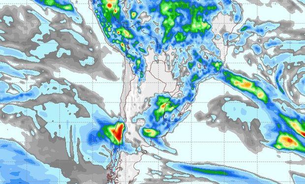 Pronóstico de precipitaciones para el 18 de marzo.