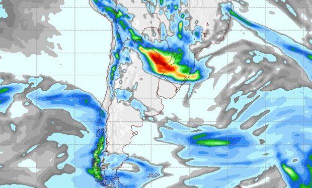 Pronóstico de lluvias para el 7 de octubre.