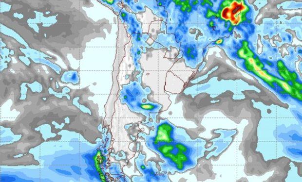 Pronóstico de precipitaciones para el jueves 9 de febrero de 2017.