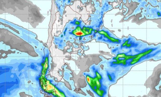 Pronóstico de precipitaciones para el viernes 17 de febrero.