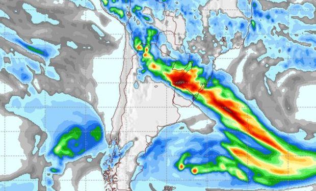 Pronóstico de lluvias para el sábado 11 de marzo.