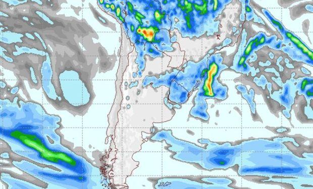Pronóstico de precipitaciones para el 24 de marzo de 2017.