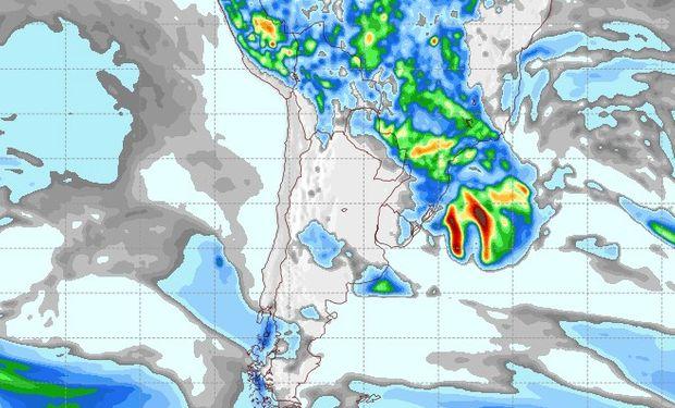 Pronóstico de lluvias para el 27 de noviembre.