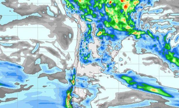 Pronóstico de lluvias para el 20 de febrero.