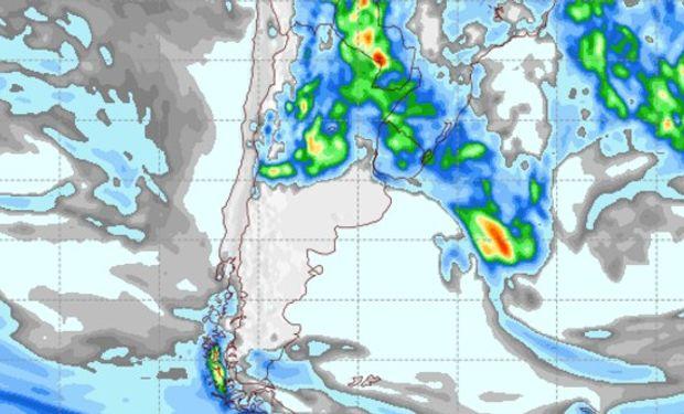 Pronóstico de precipitaciones para el domingo 12 de febrero de 2017.