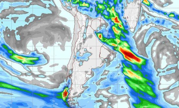 Pronóstico de lluvias para el sábado 22 de abril.