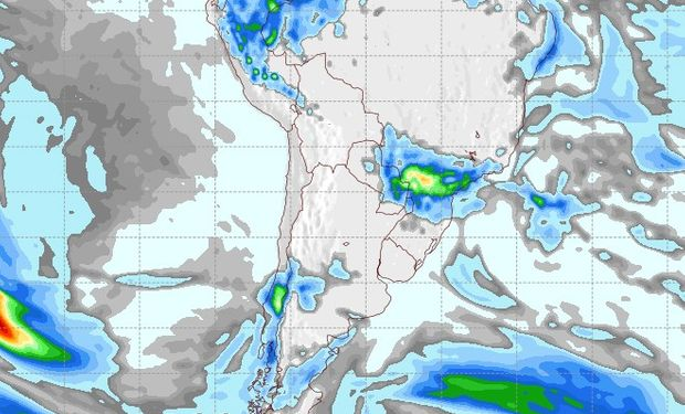 Pronóstico de precipitaciones para el 19 de agosto.