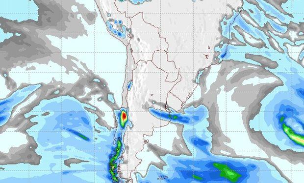 Pronóstico de lluvias para el sábado 2 de agosto.