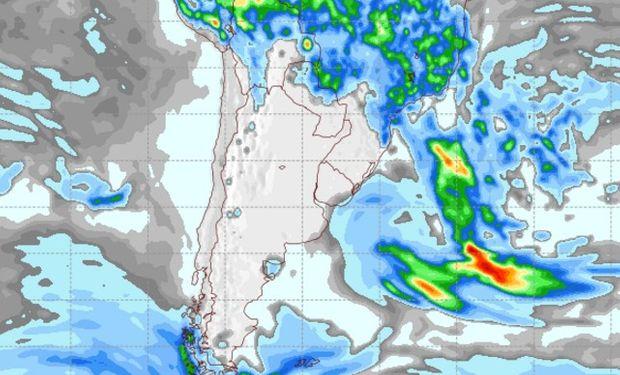 Pronóstico de precipitaciones para el martes 7 de febrero de 2017.