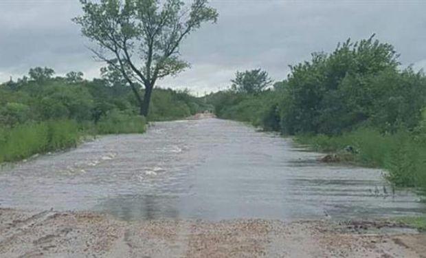 Los caminos rurales están intransitables en la zona.