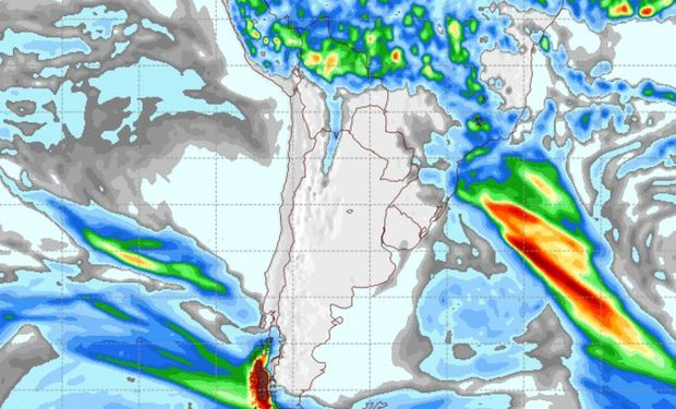 Pronóstico de lluvias para el domingo 23 de abril.