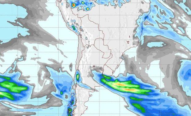 Pronóstico de lluvias para el domingo 3 de agosto.
