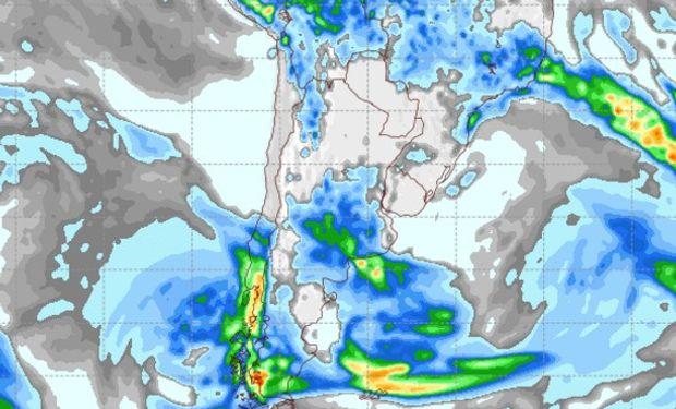 Pronóstico de lluvias para el jueves 9 de marzo.