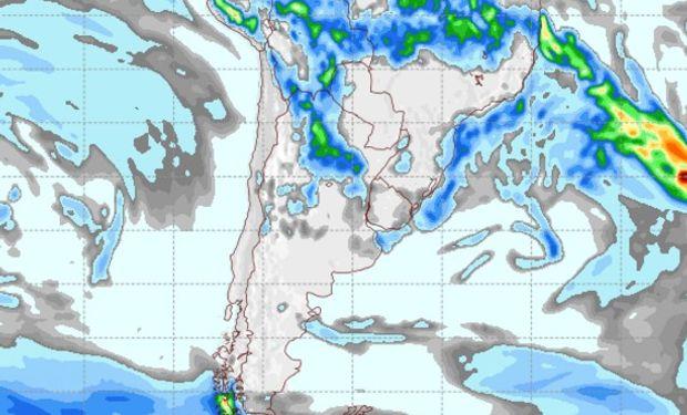 Pronóstico de precipitaciones para el 22 de marzo de 2017.