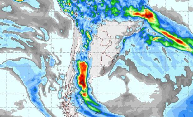 Pronóstico de lluvias para el 30 de marzo.