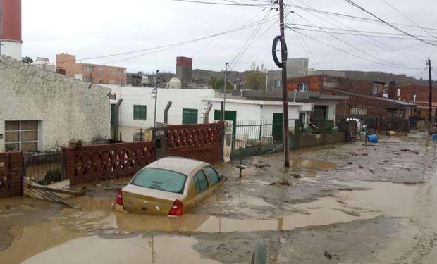 En Comodoro Rivadavia las lluvias superaron en un 1.660 por ciento a las habituales. Ricardo Asencio / Municipalidad de Comodoro Rivadavia.