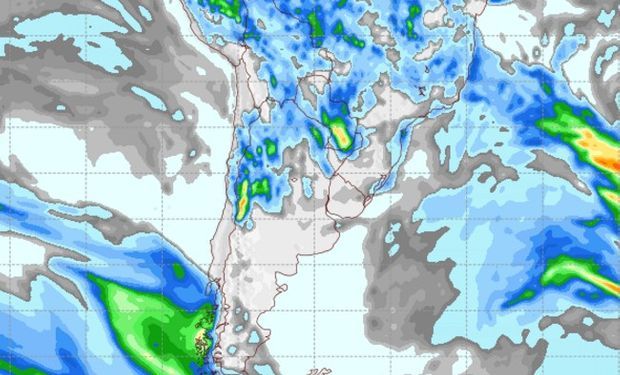 Pronóstico de lluvias para el miércoles 19 de abril.