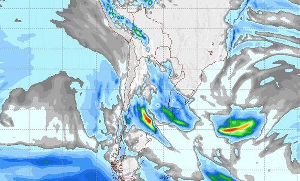 Pronóstico de lluvias para el sábado 9 de septiembre.