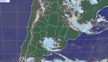 Posibilidad de lluvias débiles sobre algunas regiones