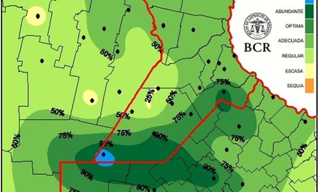 Reservas de pradera permanente al 29/01/15. Fuente: BCR