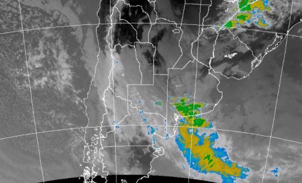 Alerta del SMN por tormentas fuertes o severas.