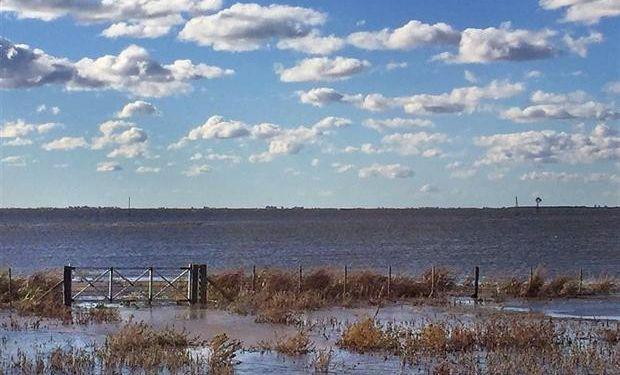 La laguna Mar Chiquita en Junín está desbordada y afecta campos de la zona. Foto: Moutous