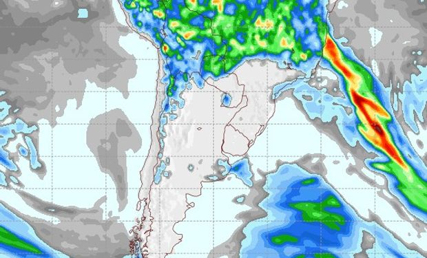Pronóstico de precipitaciones para el 2 de febrero de 2017.