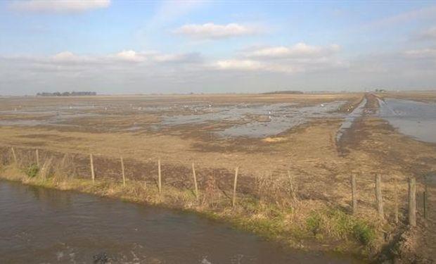 Los campos están saturados de agua.