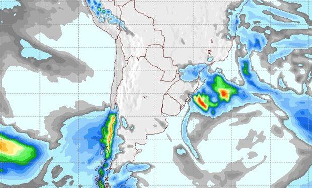 Pronóstico de lluvias para el 24 de agosto.