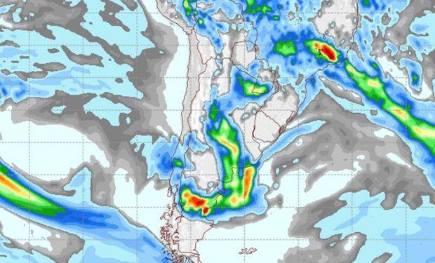 Pronóstico de lluvias para el sábado 8 de abril.