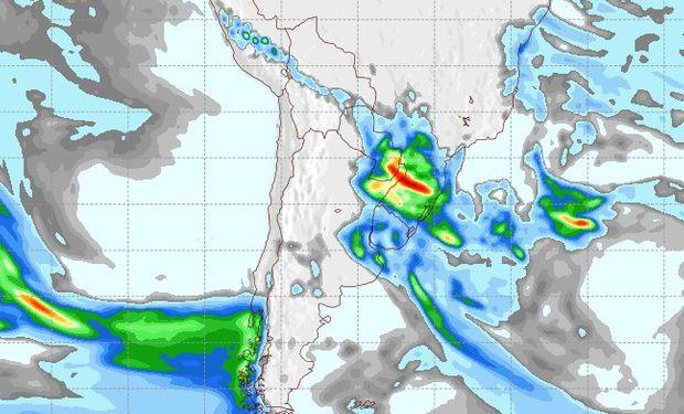 Pronóstico de lluvias para el 25 de agosto.