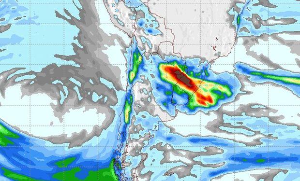 Pronóstico de precipitaciones para el sábado 10 de junio.