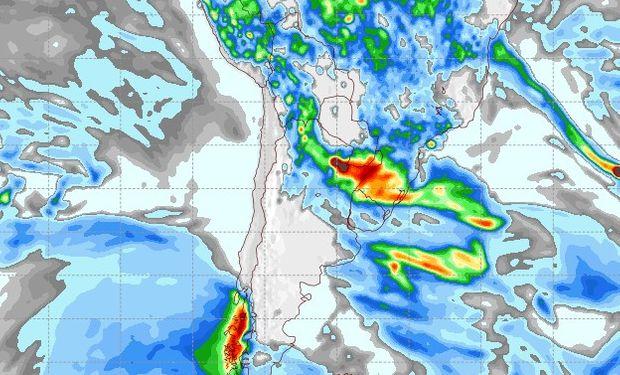 Pronóstico de precipitaciones para el 16 de marzo.